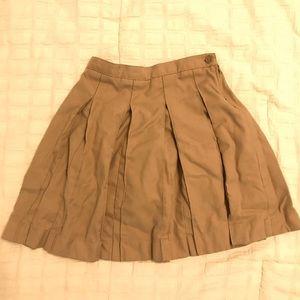 Lands' End Girls 7 Uniform Pleated Skirt